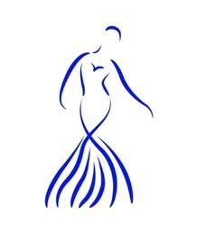 Sketched dancing girl vector image