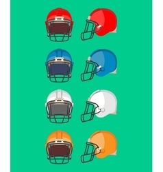 American Football Helmet Set Protective Equipment vector image
