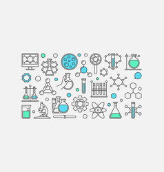 chemistry concept banner vector image vector image