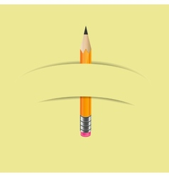 Graphite pencil with paper banner vector image vector image