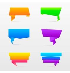Origami speech bubble vector image
