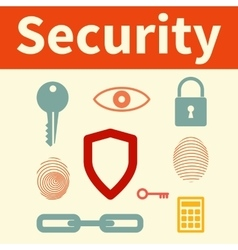 Web security set of icons vector image vector image
