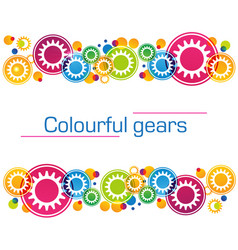 abstract background of bright colored gears vector image