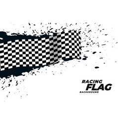 Abstract racing flag grunge background vector