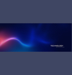 Abstract technology particles mesh background vector