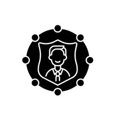 Accountability black glyph icon vector