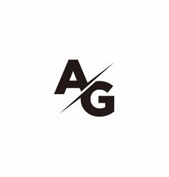 Ag logo letter monogram slash with modern logo vector