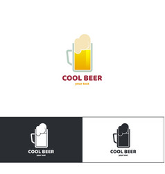 beer logo eight vector image