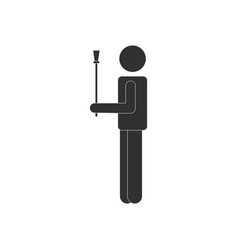 Black icon on white background man and sex stick vector