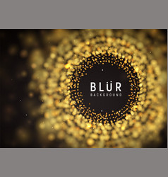Blurred luxury abstract dark background golden vector