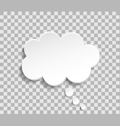 Bubble cloud for think and speech paper cloud for vector