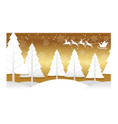 christmas with winter forest vector image