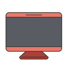 colorful silhouette of screen monitor vector image