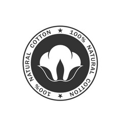 Cotton stamp black vector