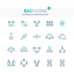 easy icons 06e networks vector image