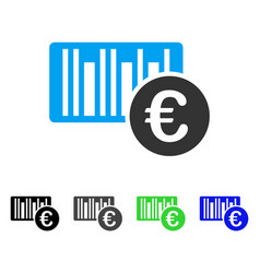 euro bar code price flat icon vector image