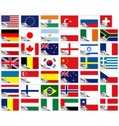 flags of the world set vector image