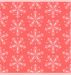 floral design on red background seamless pattern vector image