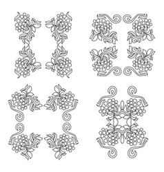 floral ornament isolated on white vector image