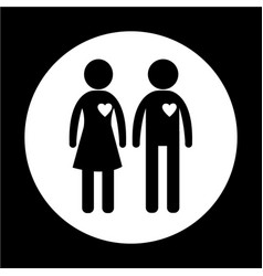gender people icon vector image