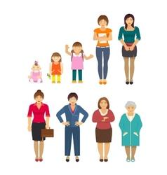 Generation Women Flat vector image