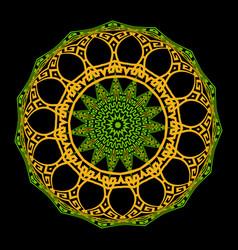 greek ornamental colorful round mandala pattern vector image