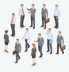 group business human isometric design vector image