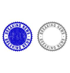 Grunge breaking news textured watermarks vector