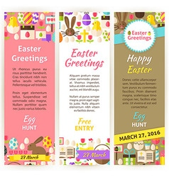 Happy Easter Vertical Flyer Set vector