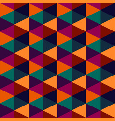 hexagonal colorful geometric seamless pattern vector image