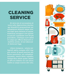 House cleaning service promotional banner with big vector