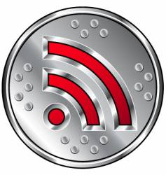 industrial RSS feed icon vector image