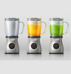 juicer kitchen blender with orange and apple vector image