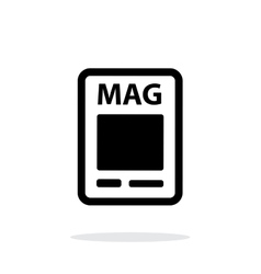 Magazine icon on white background vector