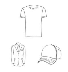 man and clothing logo vector image