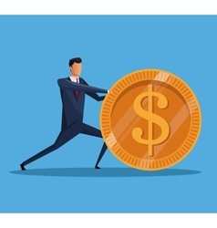 man business money financial economy vector image