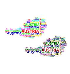 Map of austria vector