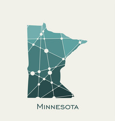 Minnesota state map vector