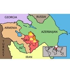 Nagorno Karabakh Republic map vector