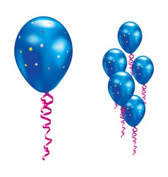 navy party balloon vector image