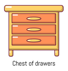 nightstand icon cartoon style vector image