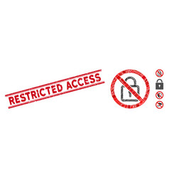 No lock mosaic and distress restricted access vector