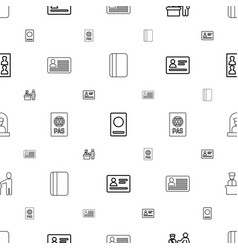 passport icons pattern seamless white background vector image