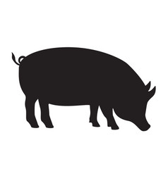 pig silhouette side pork animal icon isolated on vector image