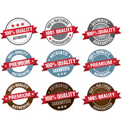 premium quality item tag set round label vector image