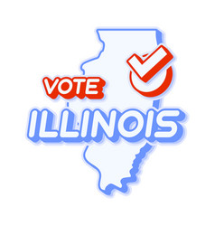 Presidential vote in illinois usa 2020 state map vector