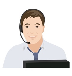 Profession receptionist man vector image
