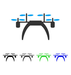 Quadcopter flat icon vector