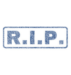Rip textile stamp vector