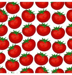 seamless background red ripe tomatoes vector image